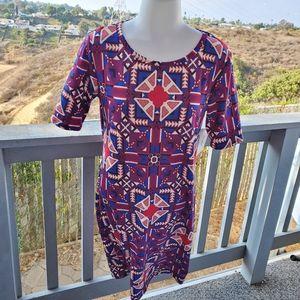 NWT LuLaRoe Julia Dress Print Medium